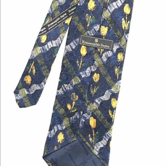 65e50843 ☀️☀️ERMENEGILDO ZEGNA 100% Silk Italian Tie NWOT